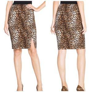 WHBM Leopard Print Pencil Skirt -F2